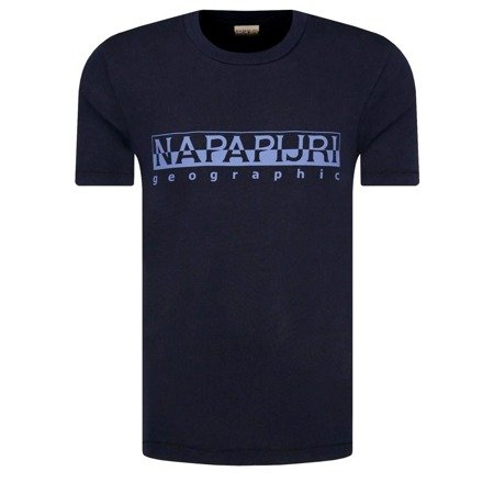 T-SHIRT MĘSKI NAPAPIJRI N0YIJ9 REGULAR FIT GRANAT